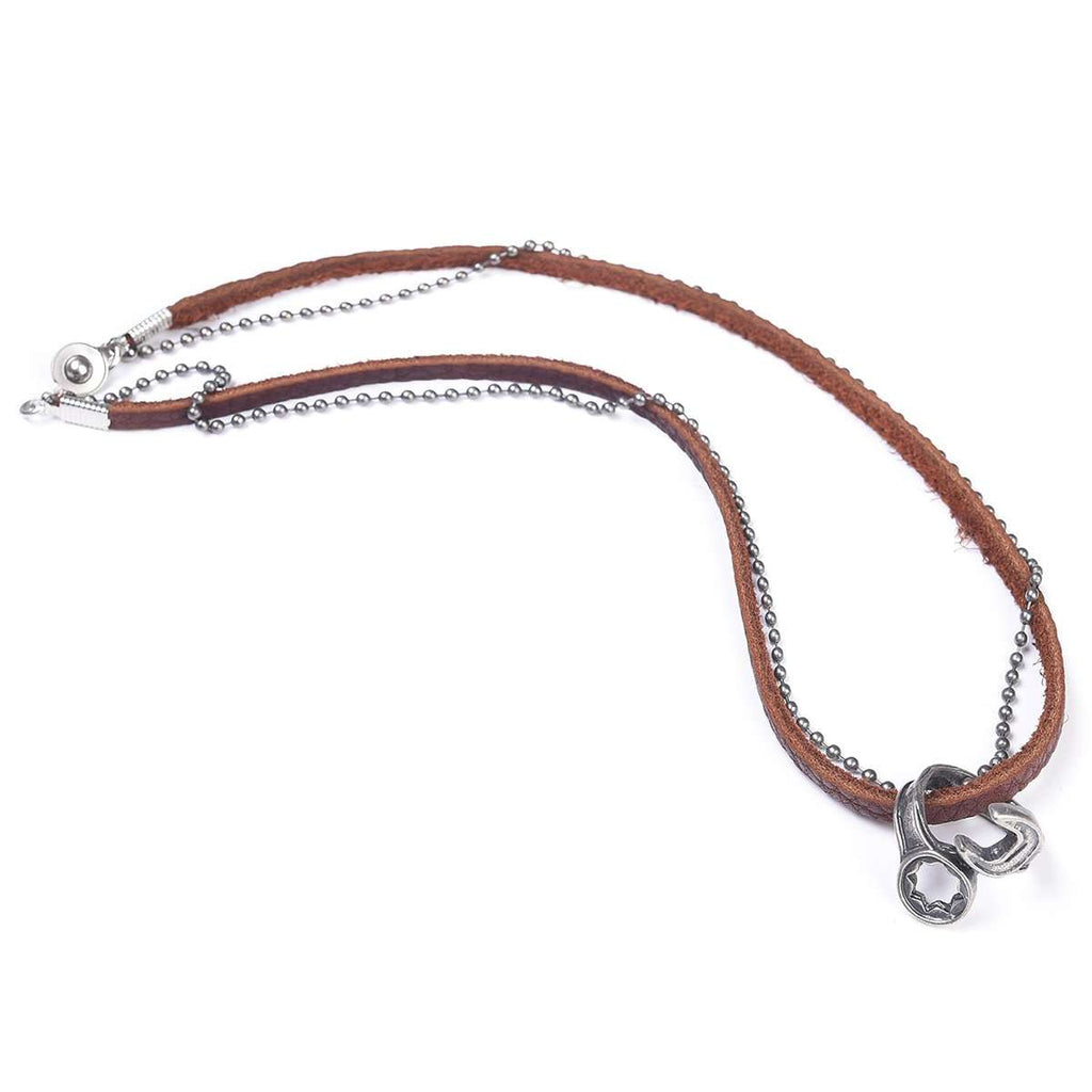 Leather Stirrup Necklace,Jewelry,Mad Man, by Mad Style