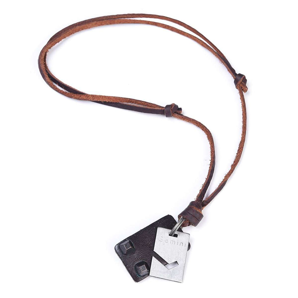 Leather Loop and Hook Necklace,Jewelry,Mad Man, by Mad Style