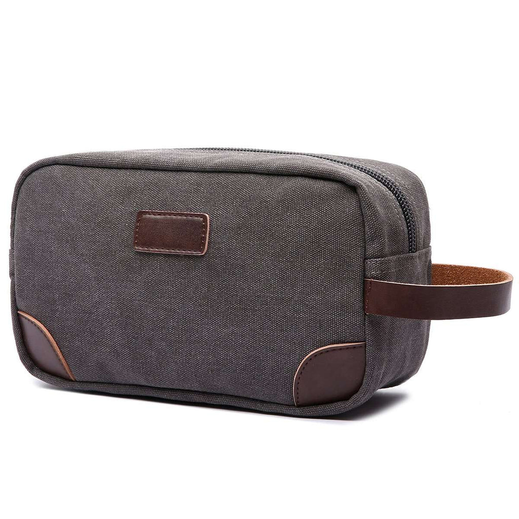Canvas and Leather Dopp Kit,Grooming,Mad Man, by Mad Style
