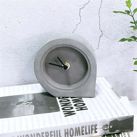 Men's Concrete Desk Clock