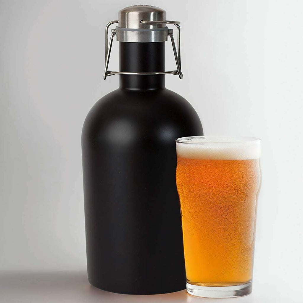 Men's Stainless Steel Beer Growler,Drinkware,Mad Man, by Mad Style