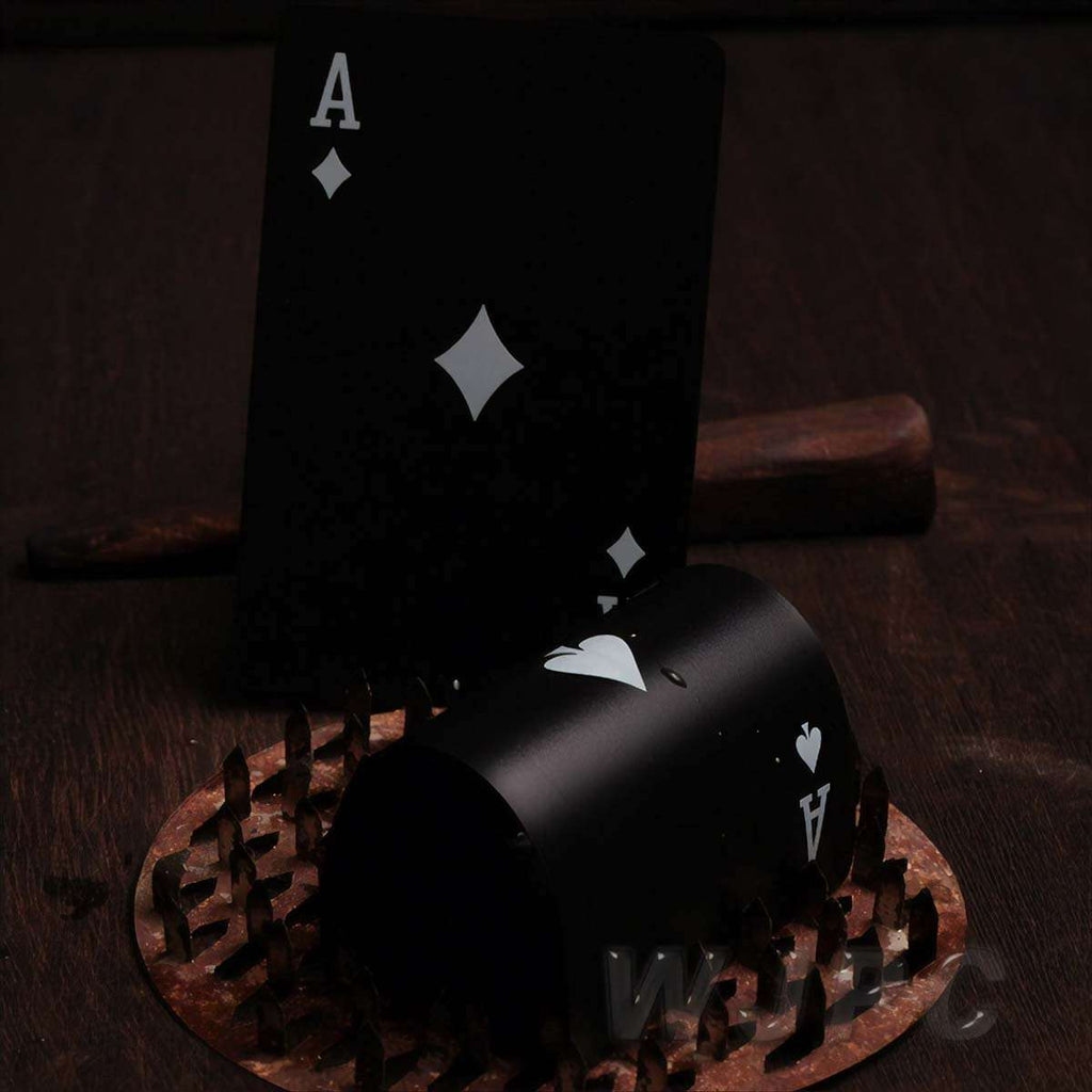 Men's Black Edition Waterproof Card Deck,Desktop Games,Mad Man, by Mad Style