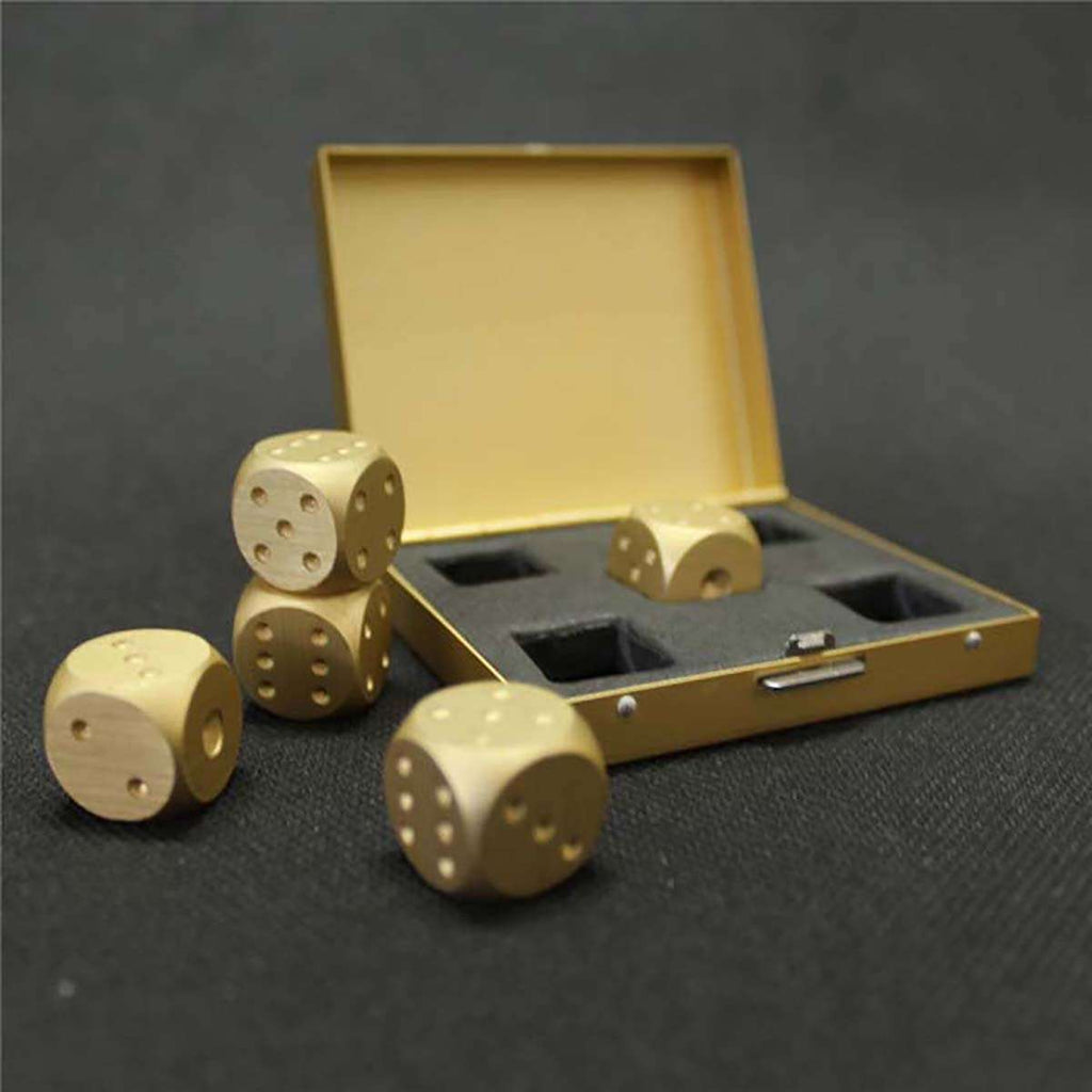 Men's Brushed Stainless Dice Set,Desktop Games,Mad Man, by Mad Style