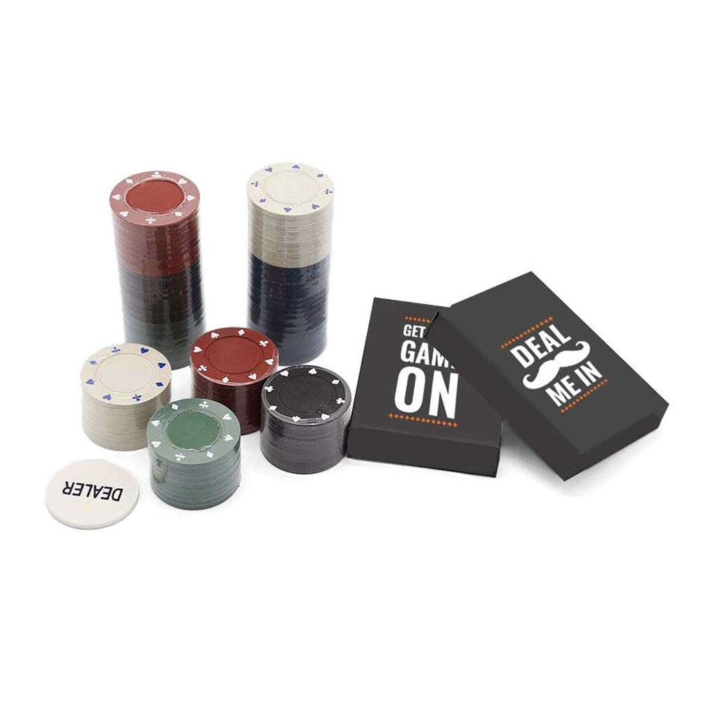 Men's Professional Poker in a Tin Set,Desktop Games,Mad Man, by Mad Style