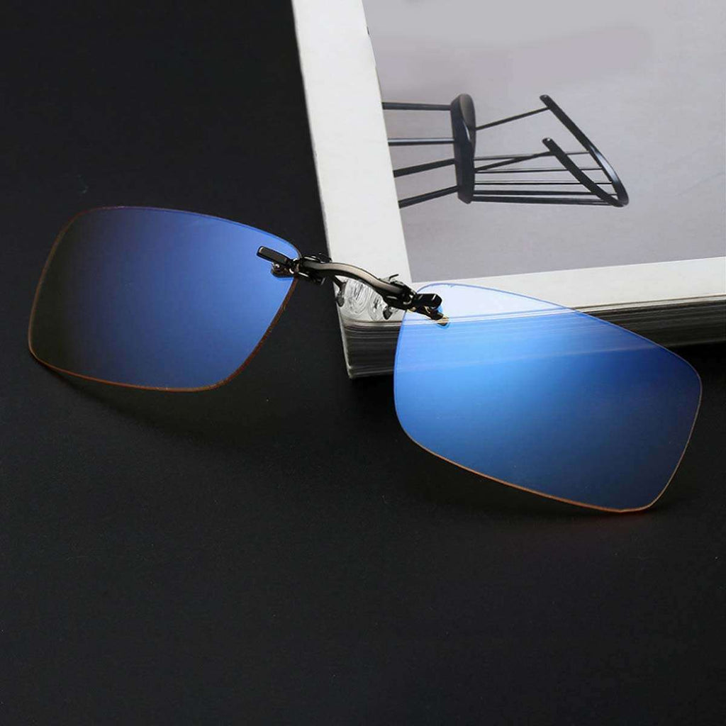 Men's Blue Light Blocking Rimless Computer Screen Glasses,Eyewear,Mad Man, by Mad Style