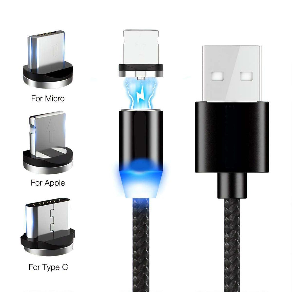 Men's Fast Charging 3 in 1 Magnet Cable,Tech,Mad Man, by Mad Style
