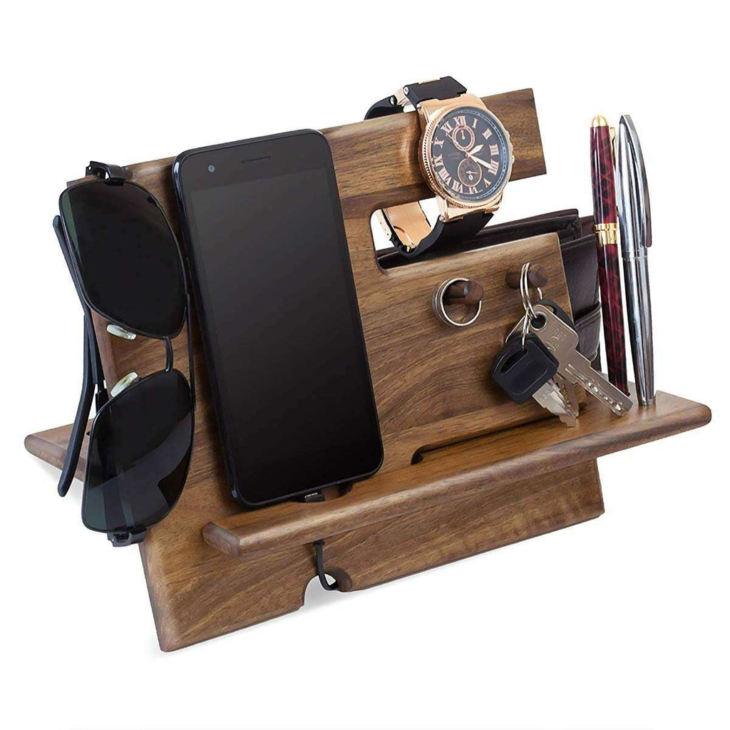 Men's Wooden Desk Organizer,Tech,Mad Man, by Mad Style