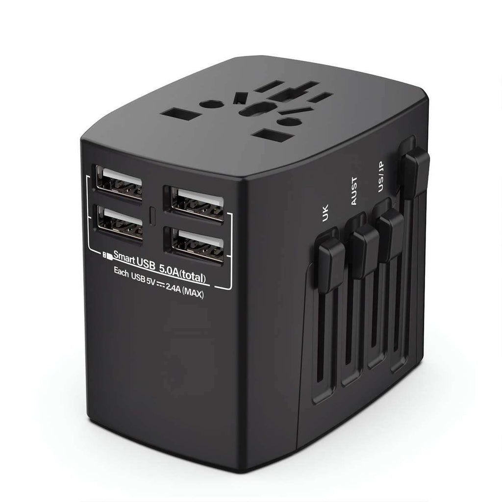 Men's 200 Country USB Travel Adapter,Travel Gear,Mad Man, by Mad Style