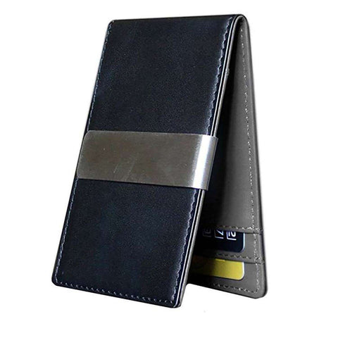 Men's Minimalist Front Pocket Money Clip Wallet