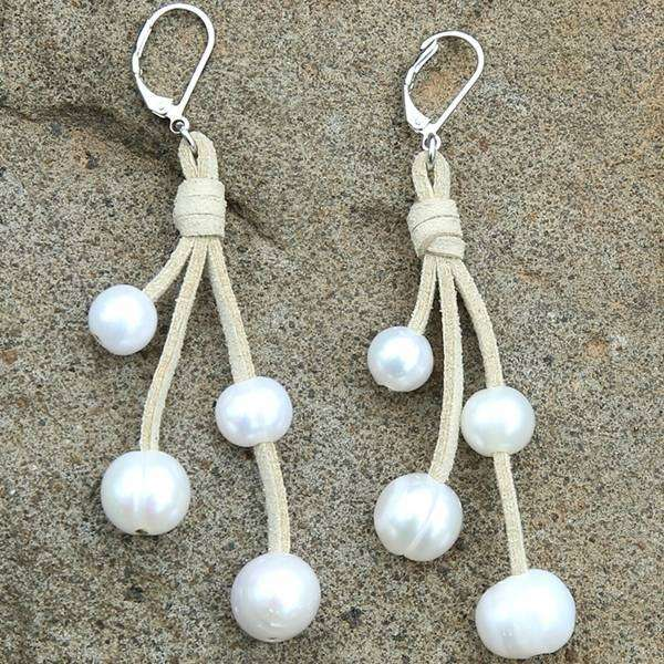 4 Cluster Pearl Earrings,Earrings,Elly, by Mad Style