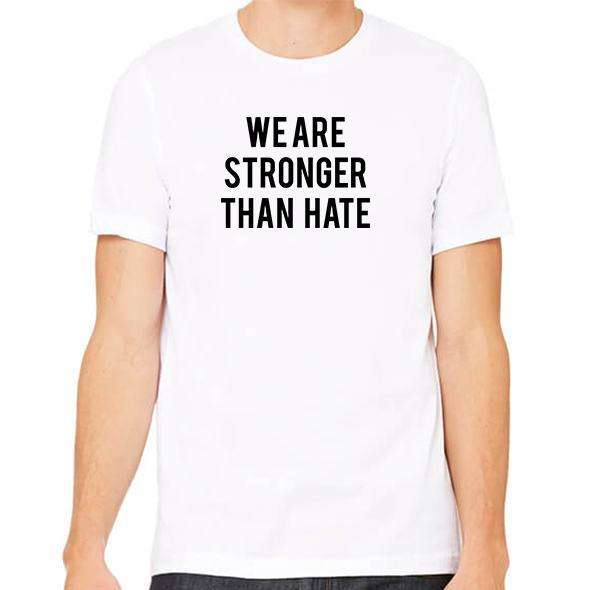 We Are Stronger Than Hate Unisex Crew Neck Tee,Charity,Mad Style Charity, by Mad Style