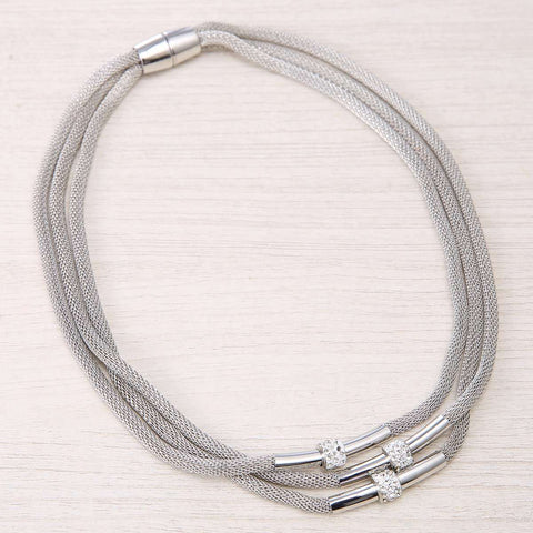 Abasi Layered Harp String Necklace
