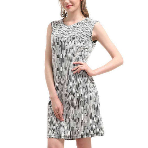 Abstract Shape A-Line Dress