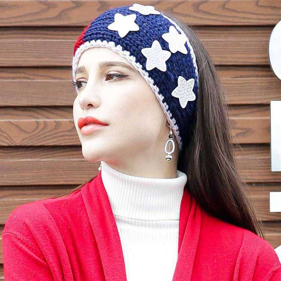 Americana Button Headband,Hats and Hair,Mad Style, by Mad Style