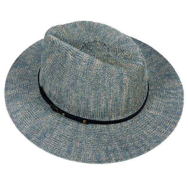 Banded Straw Fedora Hat,Hats and Hair,Mad Style, by Mad Style