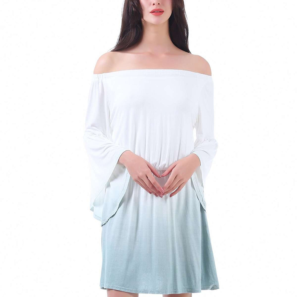 Bell Sleeve Gradient Dress,Tops,Mad Style, by Mad Style