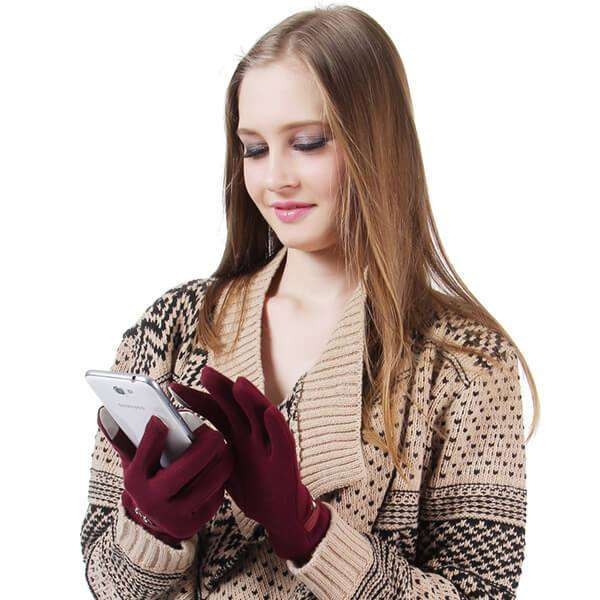 Bella Texting Gloves,Winter Accessories,Mad Style, by Mad Style