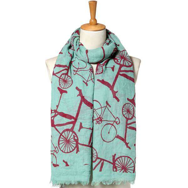 Bicycle Linen Scarf