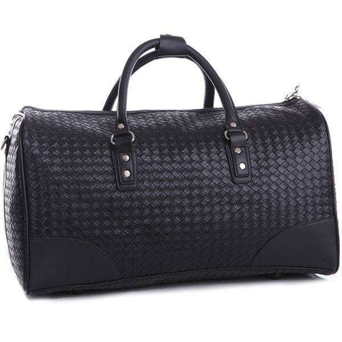 Black Oxford Men's Duffel Bag