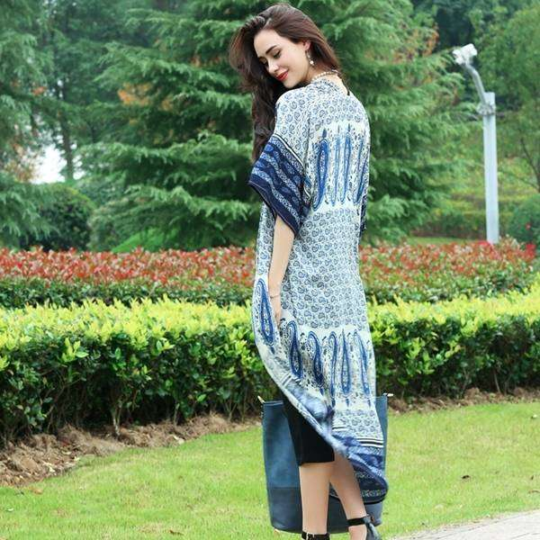 Blue Kimono,Outerwear,Mad Style, by Mad Style