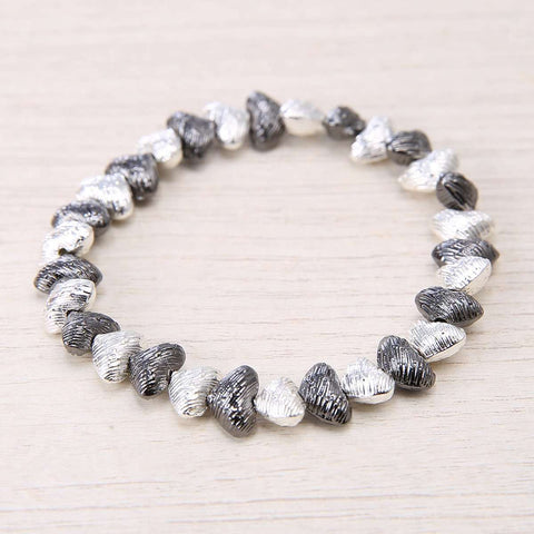 Blurred Metals Stretch Love Bracelet