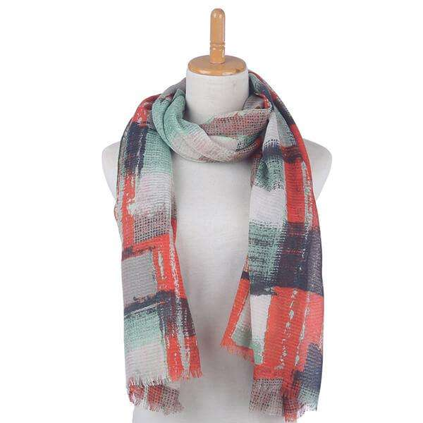 Blurred Patchwork Scarf,Light Scarves,Mad Style, by Mad Style