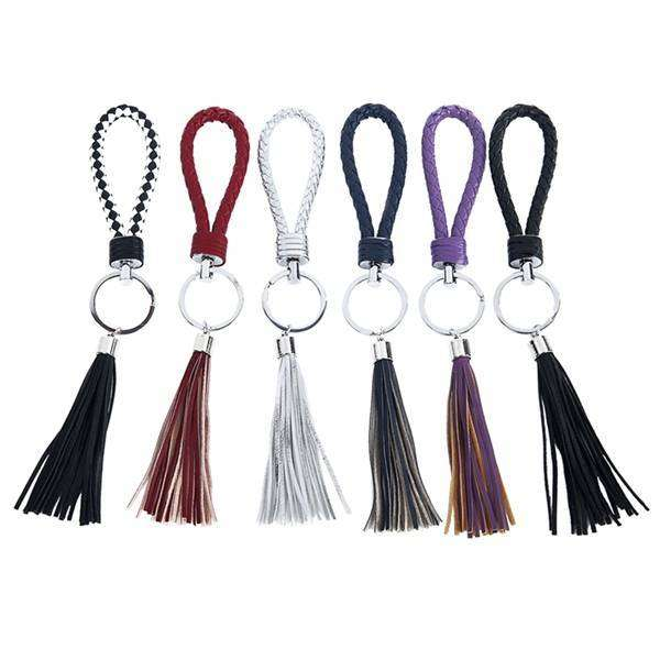 Braided Tasseled Key Chain,Key Chains and Fobs,Elly, by Mad Style