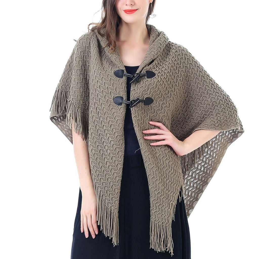 Button Up Cloak Wrap Poncho