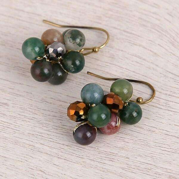 Callie Cluster Earring Tourmaline