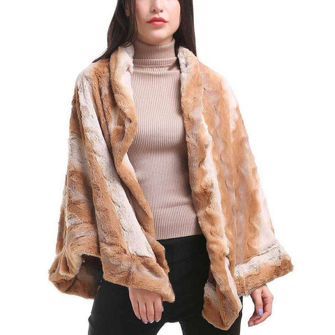 Camel Crinkled Collared Cape