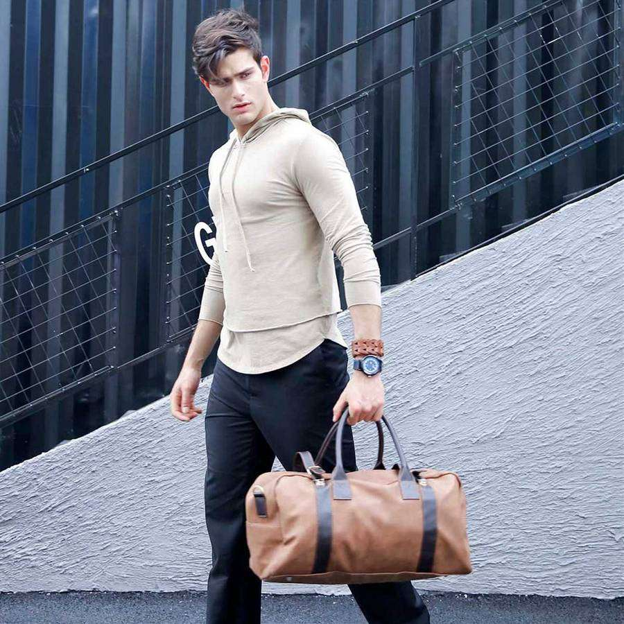Camel Large Camel Mens Duffel,Bags,Mad Man, by Mad Style