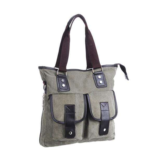 Canvas Panel Tote Bag,Bags,Mad Man, by Mad Style