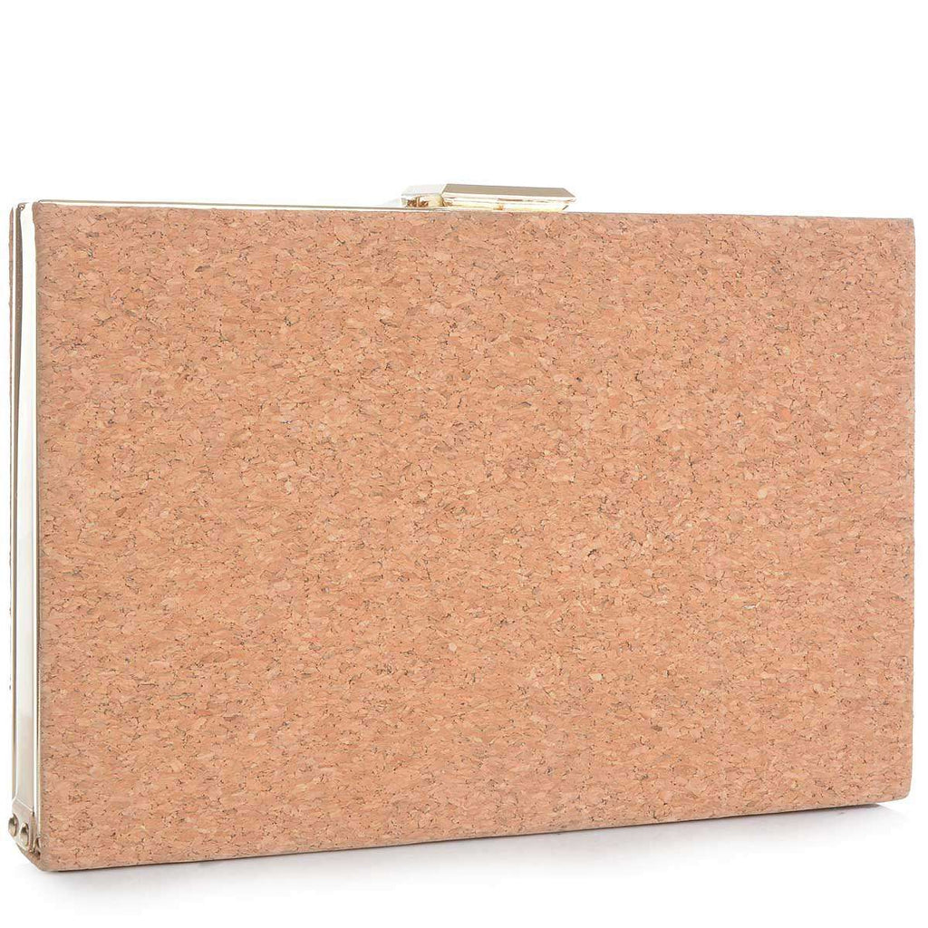 Cork Leah Clutch,Clutches,Mad Style, by Mad Style