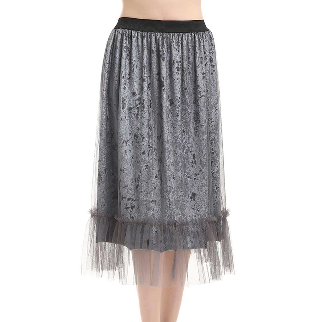 Crushed Velvet Suspension Skirt