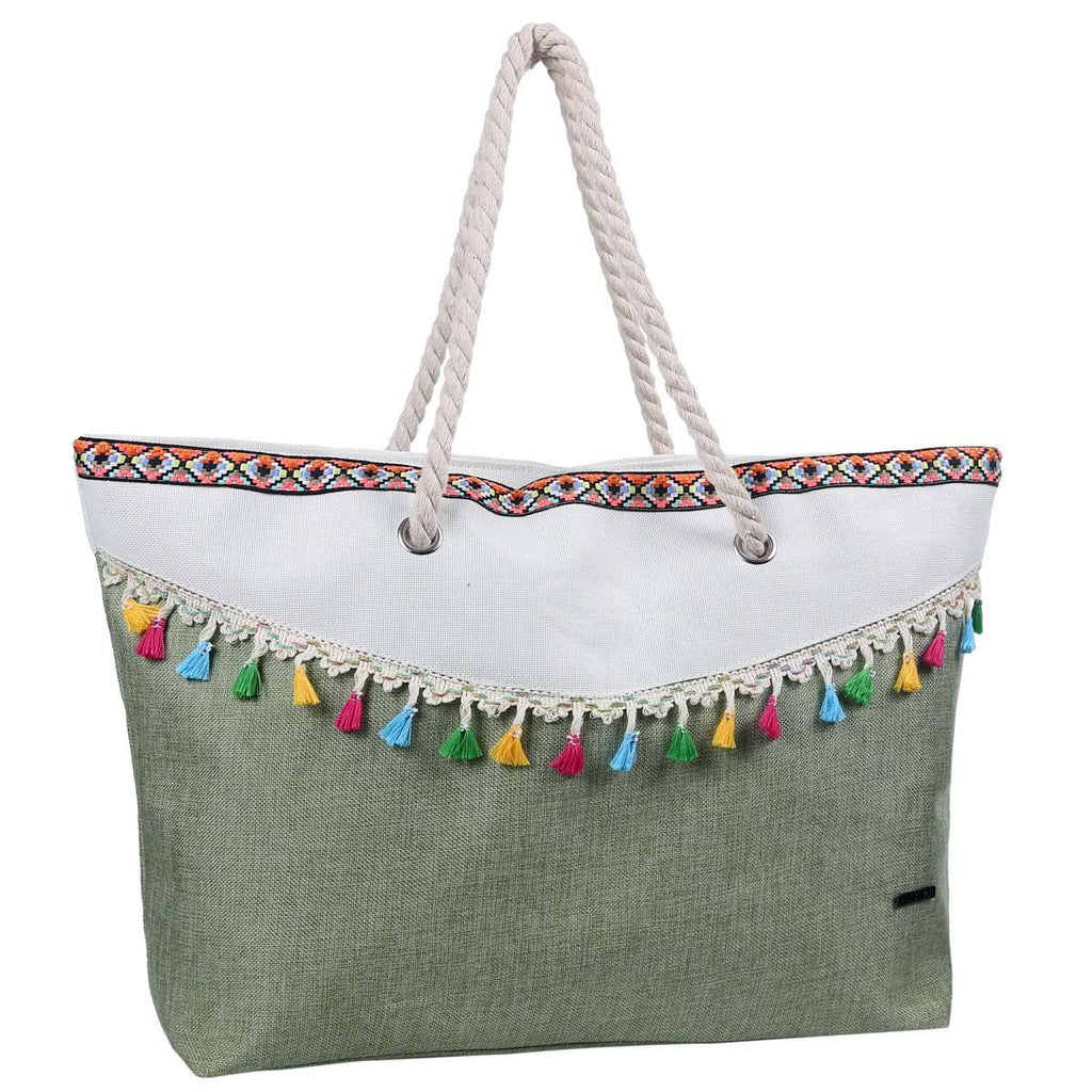 Curved Drape Tassel Tote Bag,Totes,Mad Style, by Mad Style