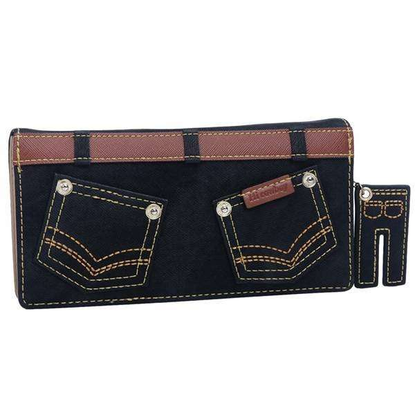 Denim Pants Flat Wallet