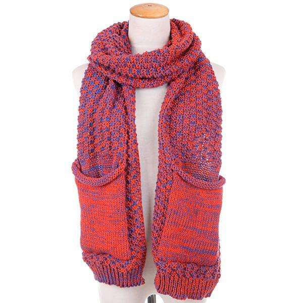 Dip Stitch Pocket Scarf,Heavy Scarves,Mad Style, by Mad Style
