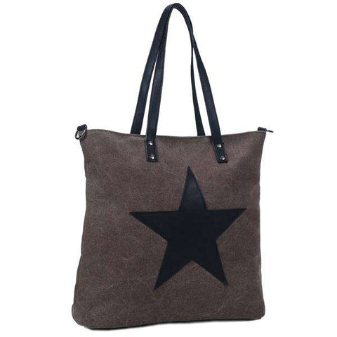 Distressed Canvas Star Bag