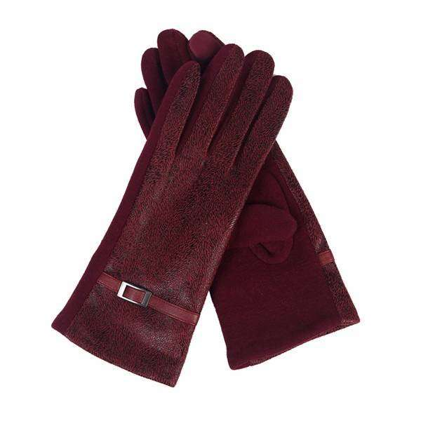 Distressed Leather Texting Gloves,Winter Accessories,Mad Style, by Mad Style