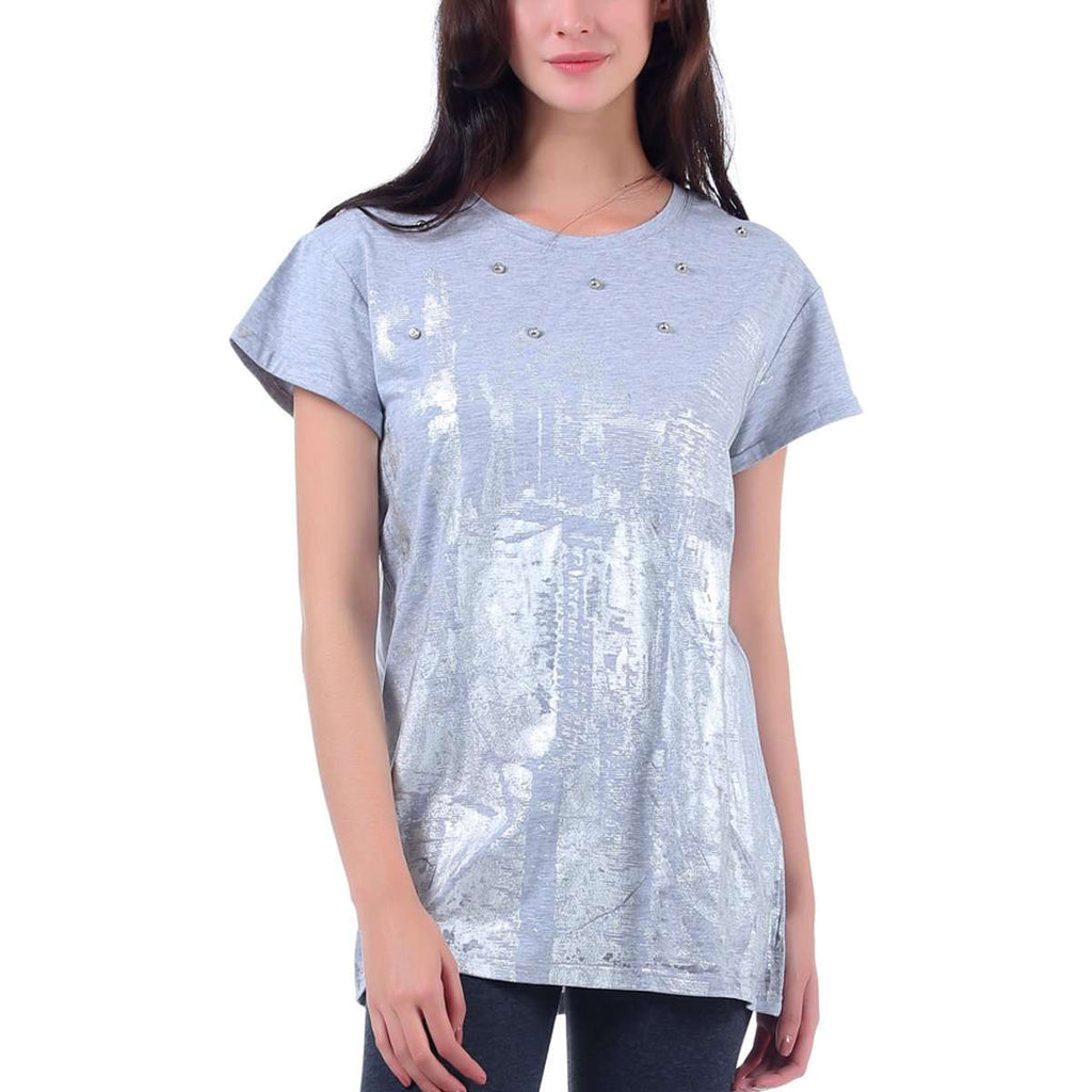 Distressed Textured Top,Tops,Mad Style, by Mad Style