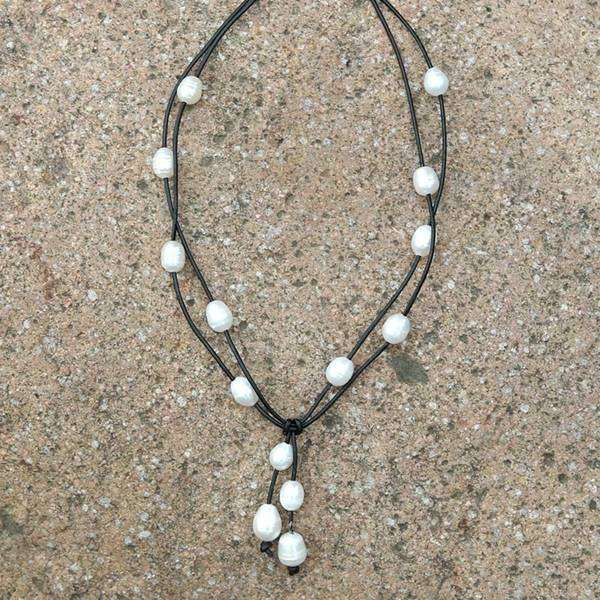 Double Layered Pearl Cluster Necklace