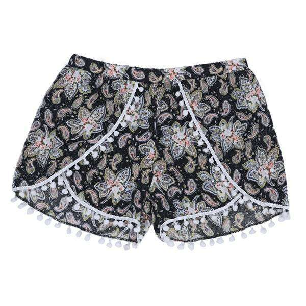 Draping Pom Pom Shorts,Bottoms,Mad Style, by Mad Style