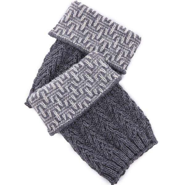 Dresden Knit Boot Cuff,Winter Accessories,Mad Style, by Mad Style