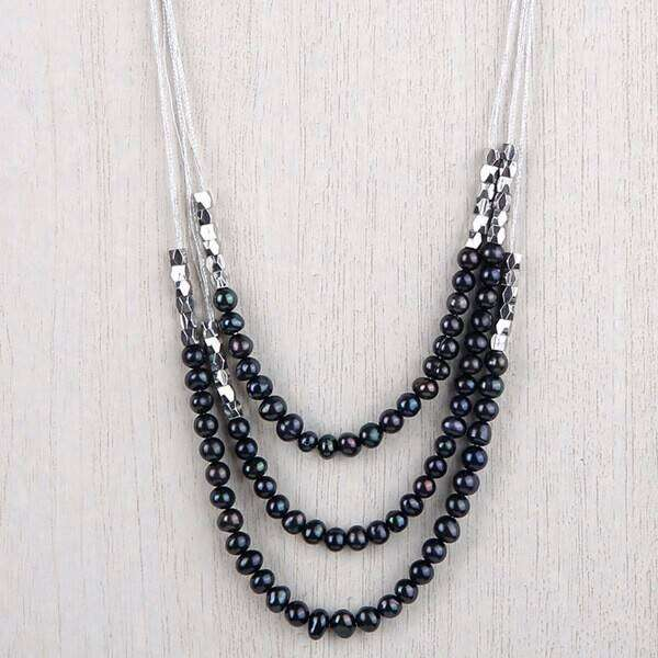 Emma Simple Three Strand Necklace
