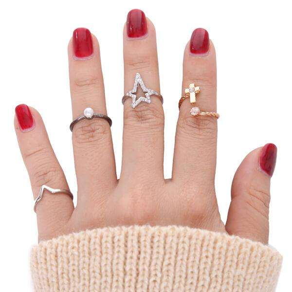 Fingertip Ring Set,Rings,Elly, by Mad Style