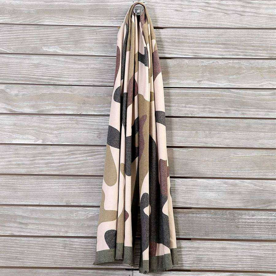 Flannel Camo Scarf,Heavy Scarves,Mad Style, by Mad Style