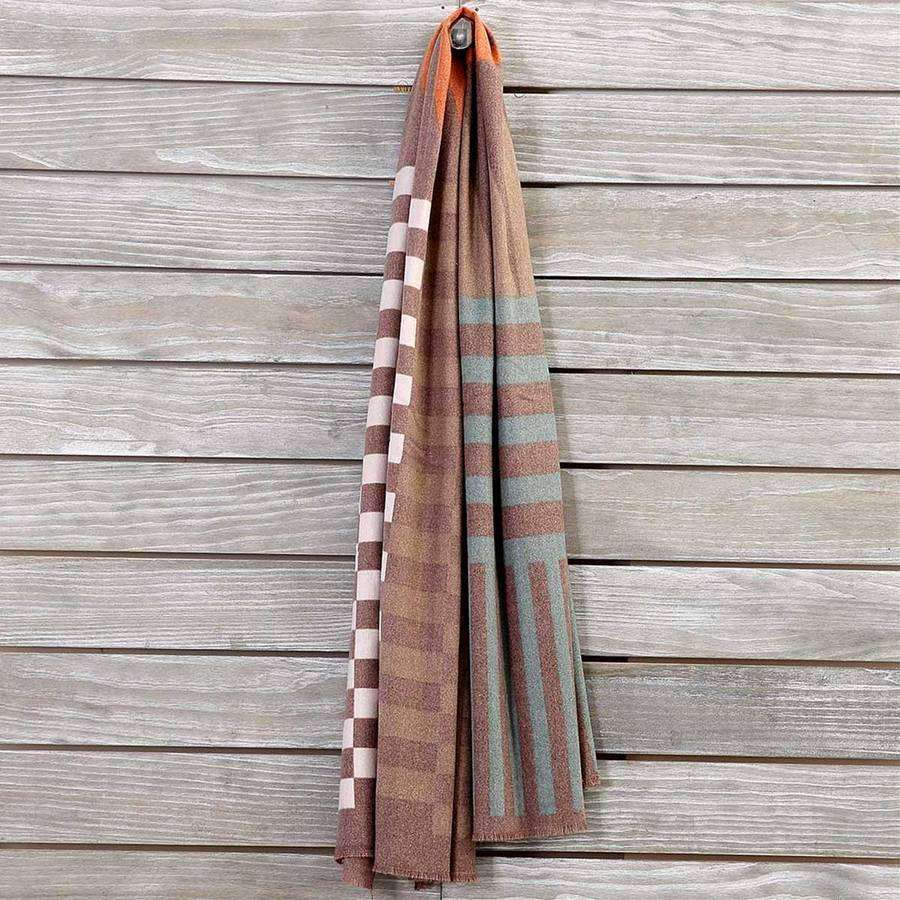 Flannel Geometric Shawl Scarf,Heavy Scarves,Mad Style, by Mad Style