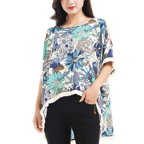 Floral Hi Low Tunic