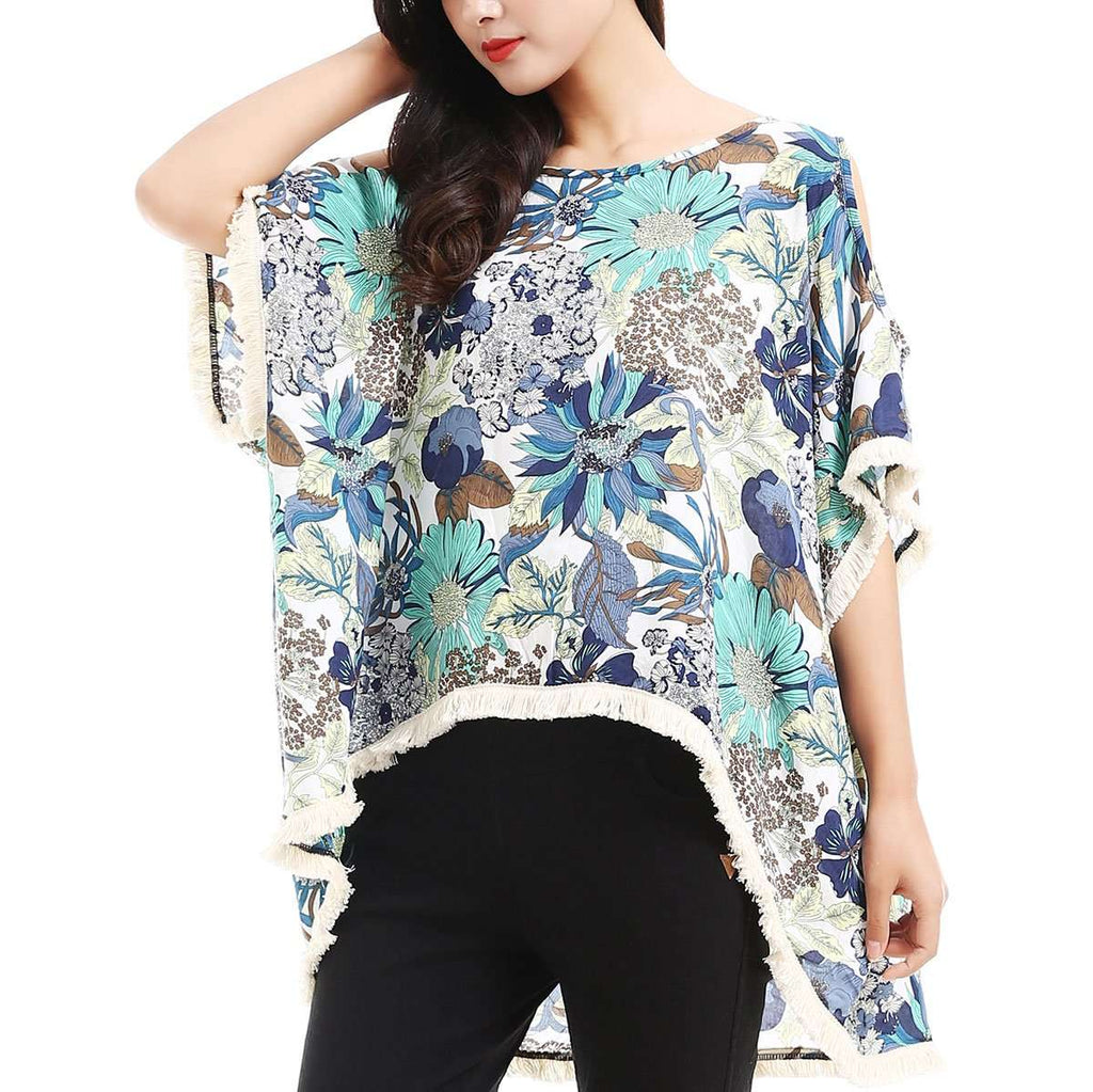 Floral Hi Low Tunic,Tops,Mad Style, by Mad Style