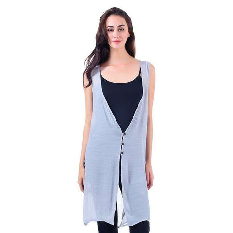 Sleeveless Button Vest